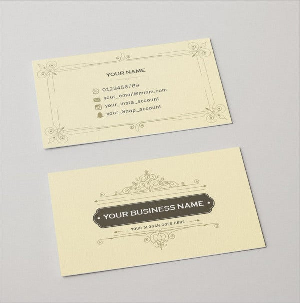 Fancy Luxury Elegant Business Card