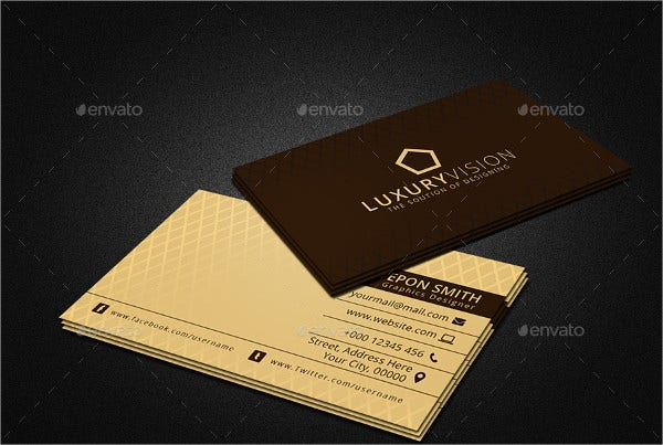 29  examples of luxury business card templates