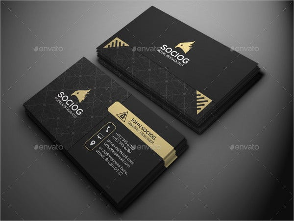 Printable Luxury Business Card
