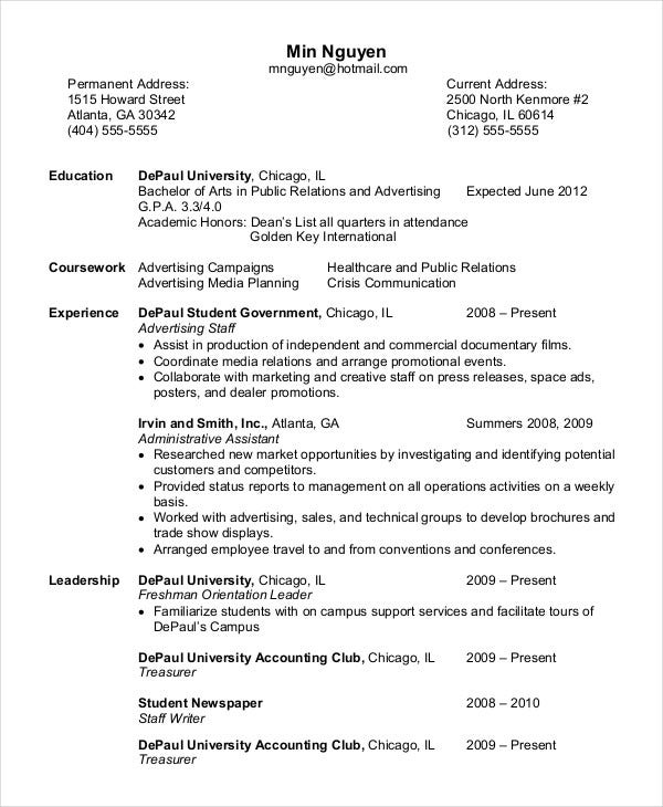 entry-level-personal-trainer-resume