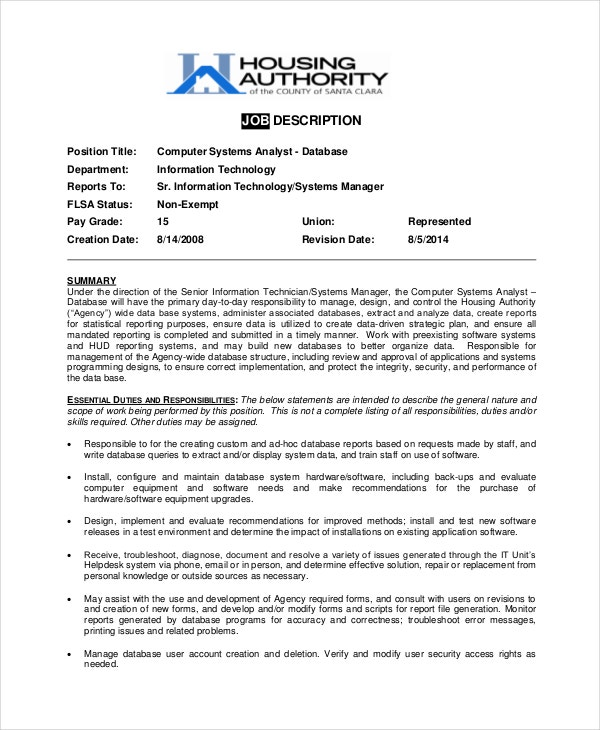 computer-systems-analyst-job-description-sample