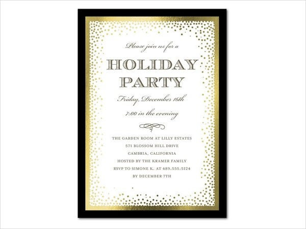 Dotted Design Holiday Party Invitation