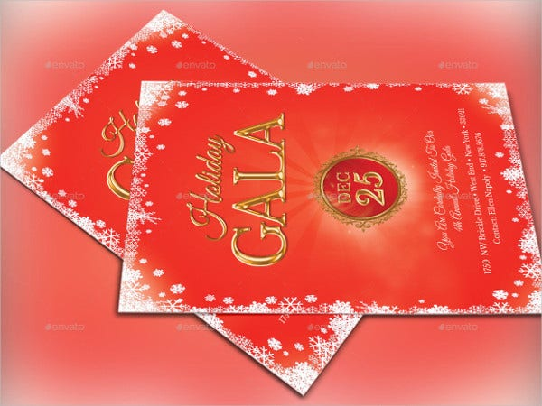 Holiday Gala Invitation Template
