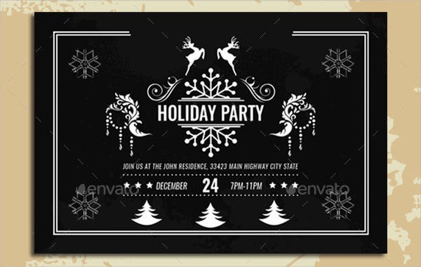 Vintage Holiday Invitation