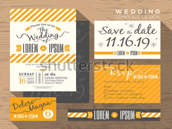 modern-yellow-stripe-wedding-invitation-set-template