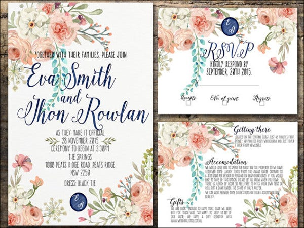 21 Modern Wedding Invitations - Free PSD, AI, Vector, EPS Format ...
