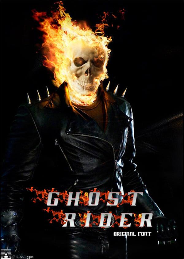 ghost rider movie font