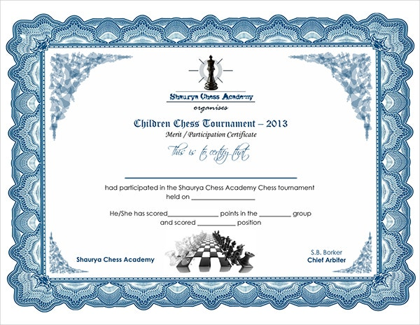 Chess Certificates 8 Word Psd Format Download Free