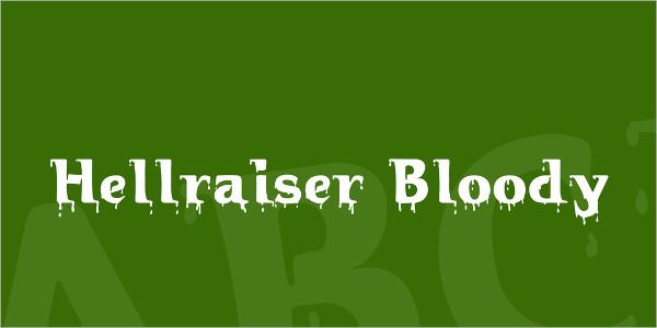 Hellraiser Bloody Font Family