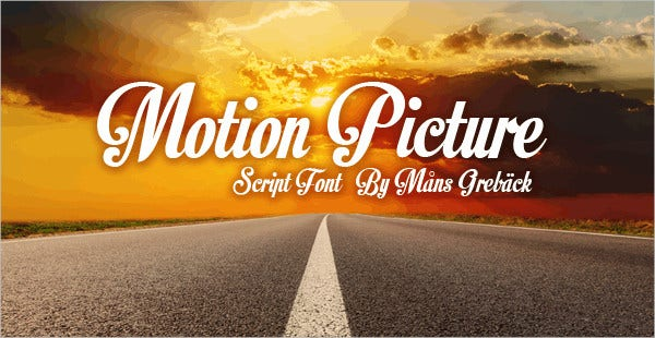 motion picture personal use font