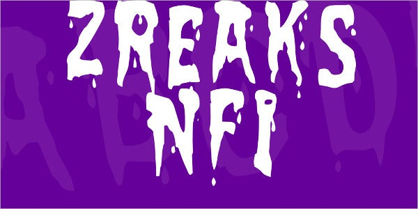 Zreaks NFI Font Family