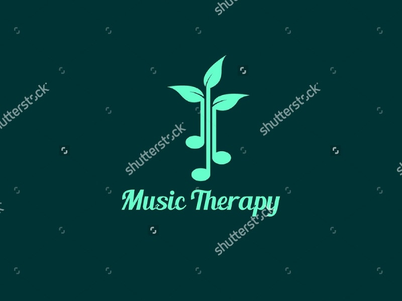 music therapy logo design