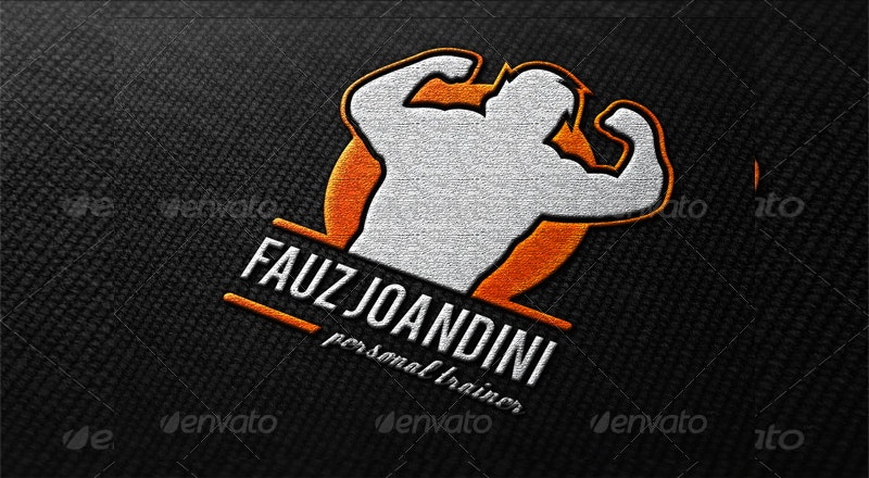 gym and personal trainer logo