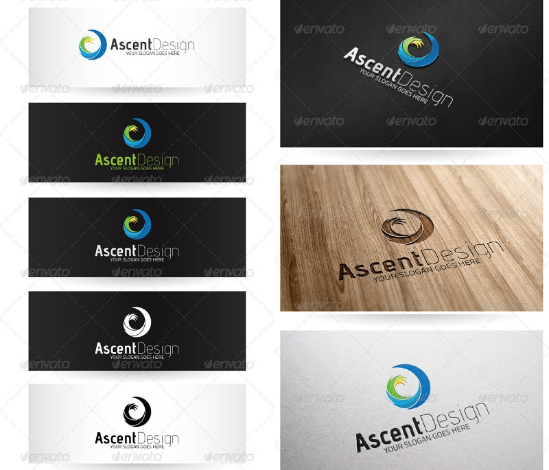abstract spiral personal logo