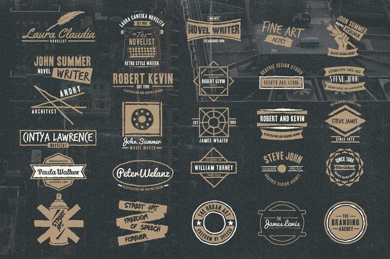 50 Vintage Personal Logos