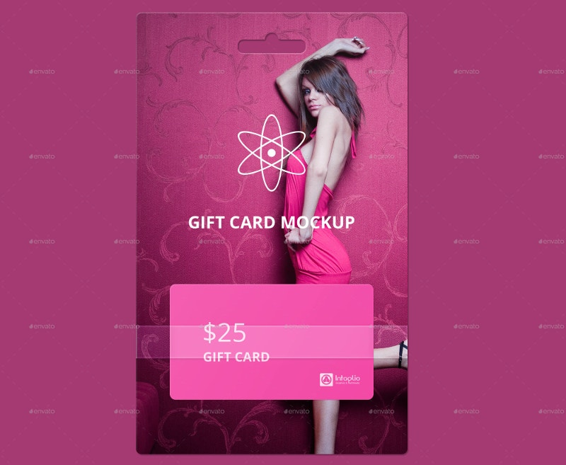 Promotional Gift Card Mockup