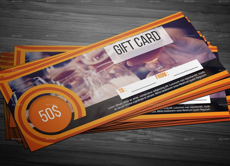 Landscape Gift Card Template
