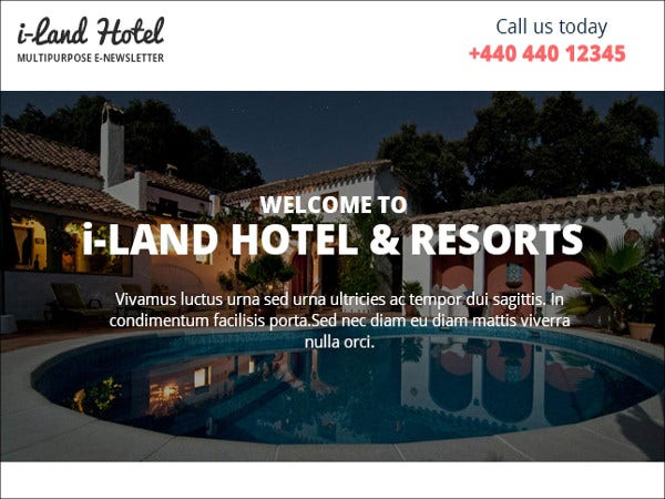 hotel deals and offers newsletter template
