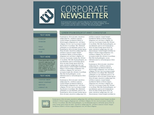 22 Free Newsletter Templates Free PSD AI Vector EPS Format – Corporate Newsletter Template