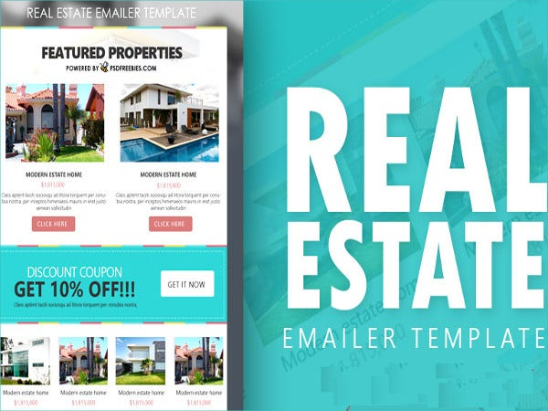 real estate e mailer template