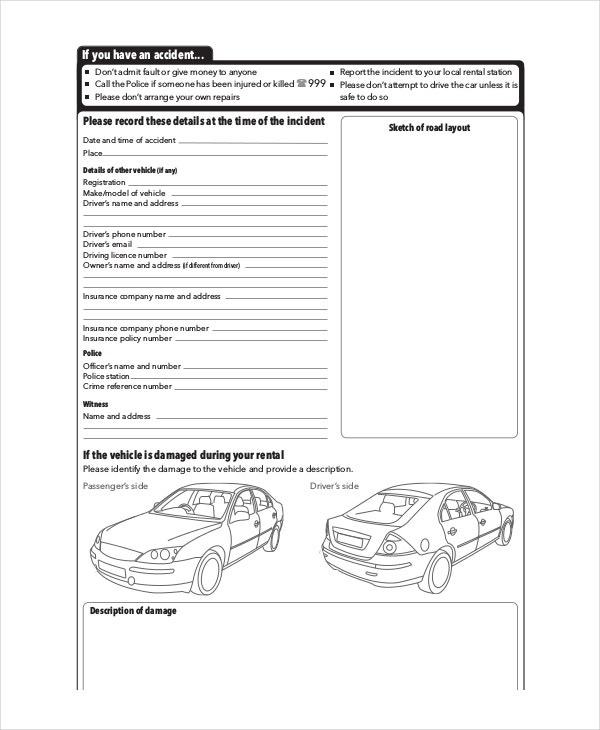 14  free vehicle report templates