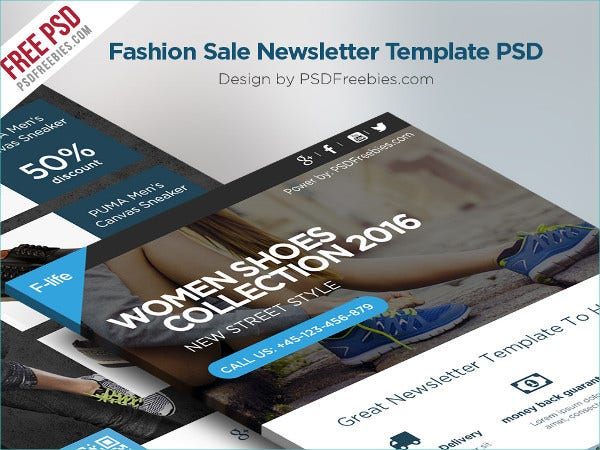 fashion sale newsletter free template1