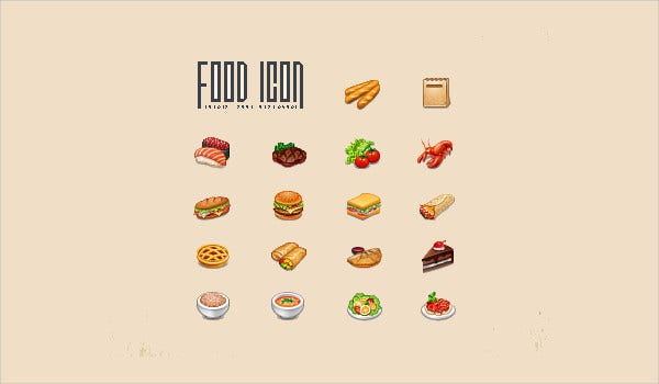 Bakery Food Icon Set