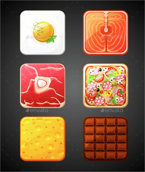 Square Food Icons