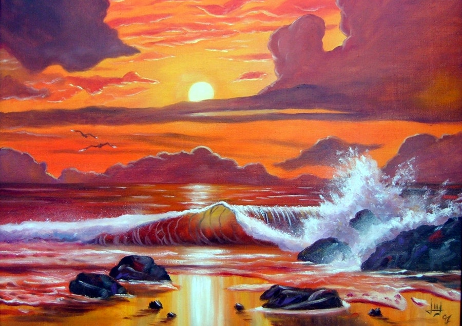 Landscapes Sunset Painting
