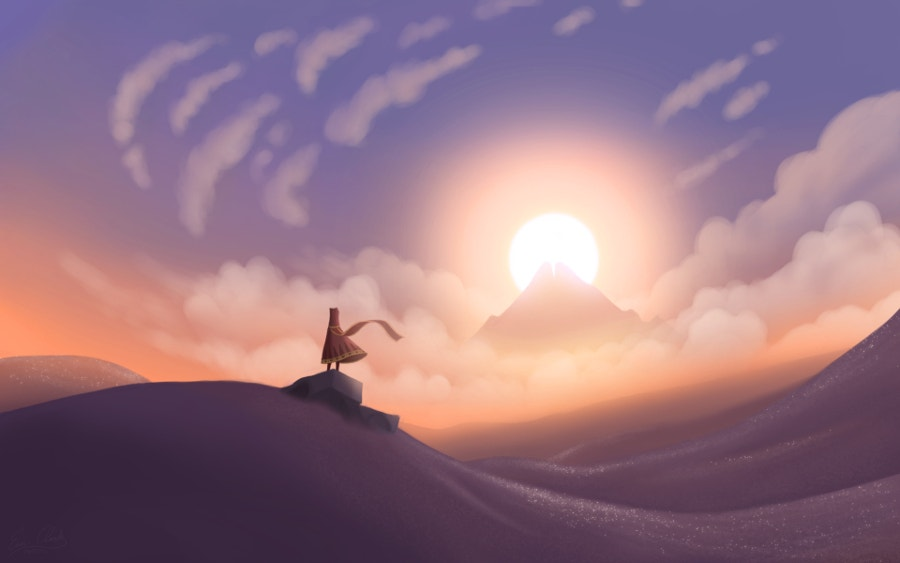 Journey Sunset Artwork