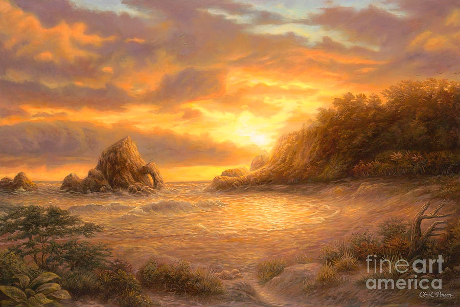 Coastal Sunset Painting