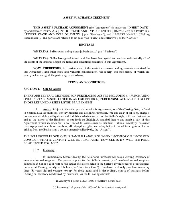 free-download-asset-purchase-agreement-template-in-pdf