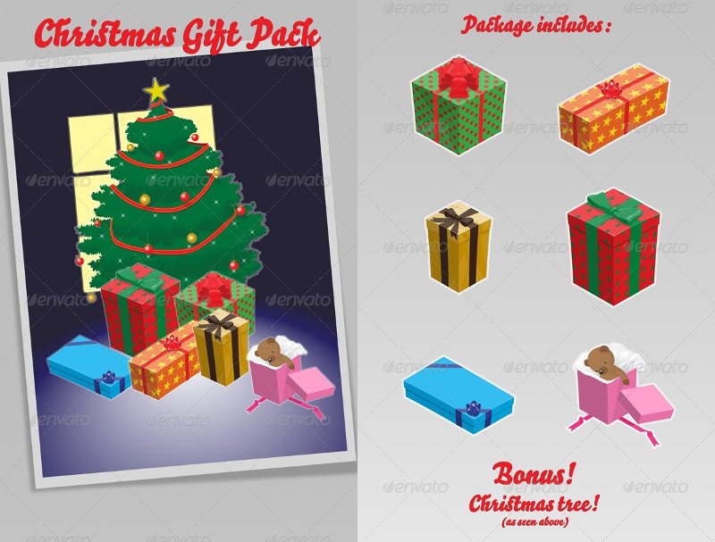 christmas gift pack design