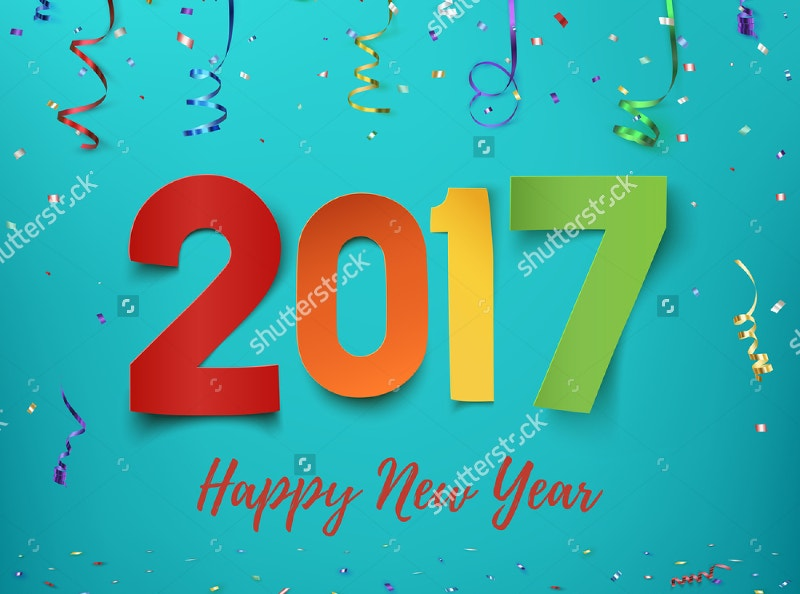 Happy New Year 2017 Background Templatee