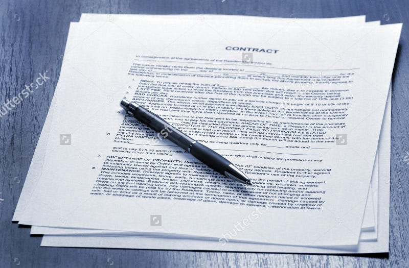 Contract Signing Form Template