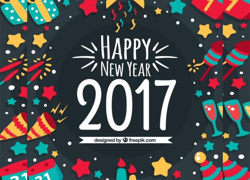 Happy New Year 2017 Background Free
