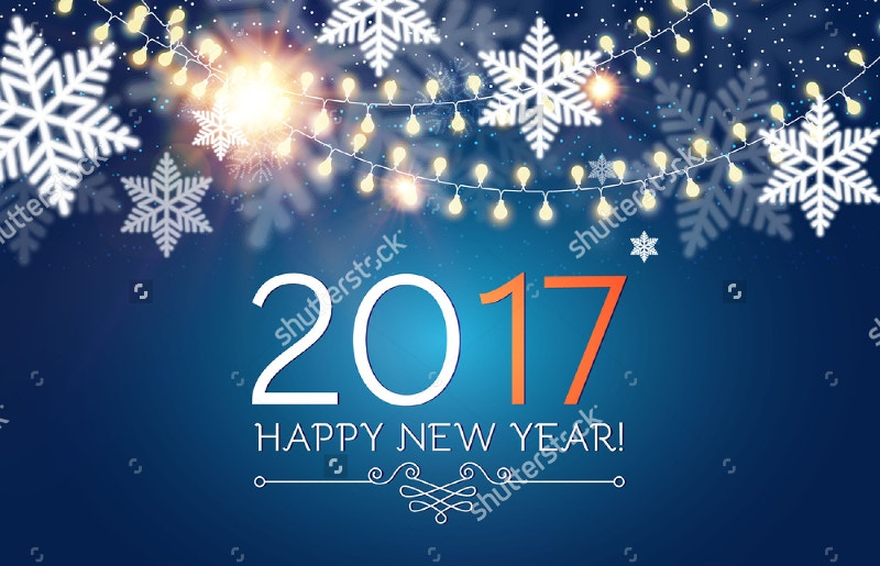 2017 New Year Winter Background