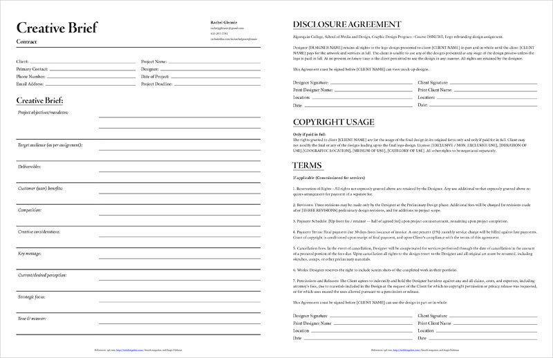 Simple Contract Form Template