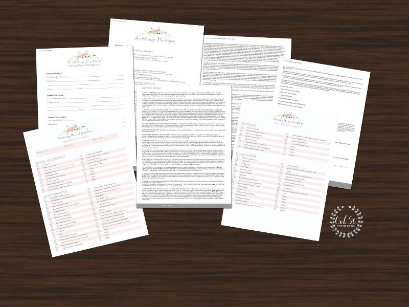 Wedding Contract Form Template