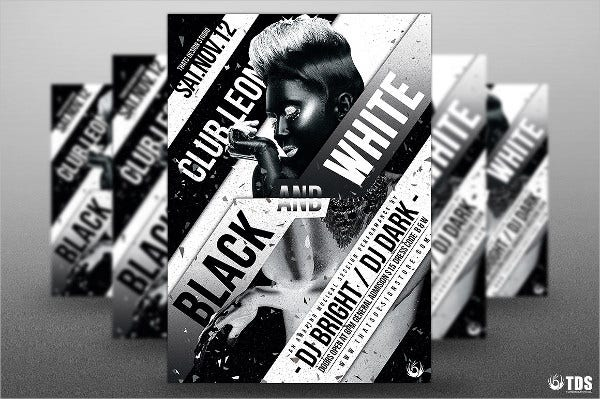 creative black and white party poster