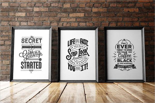 frame design black and white poster
