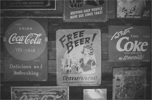 vintage black and white posters