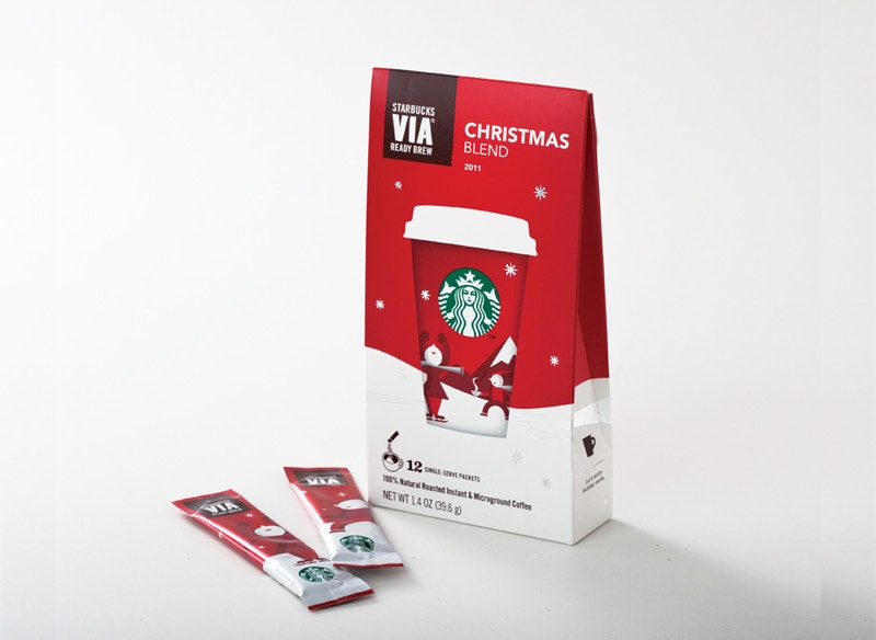 christmas toffee packaging design