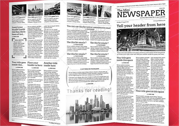 Newspaper Template   Psd Vector Eps Png Format Download