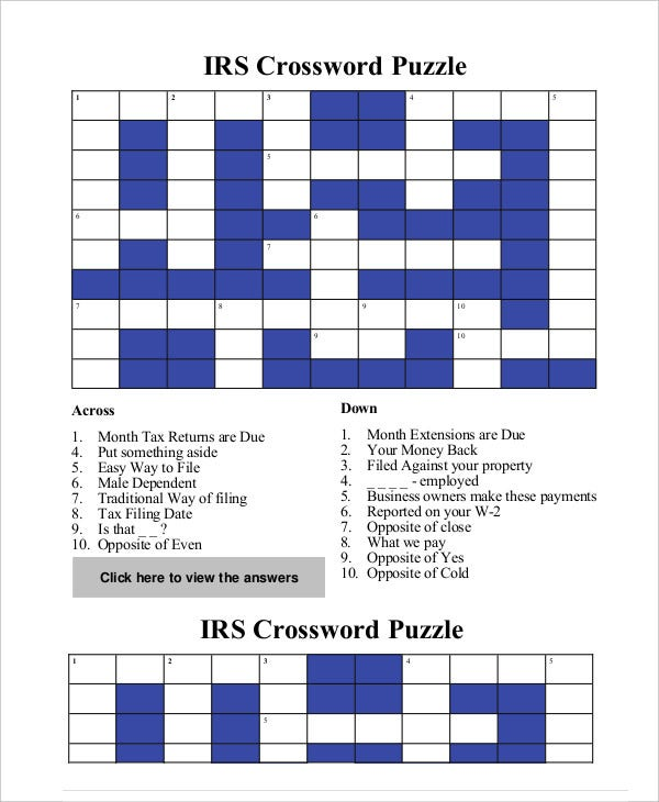 free crossword puzzle maker pdf