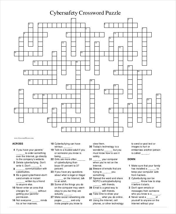Free Printable Crossword Puzzle 14 Free Pdf Documents Download
