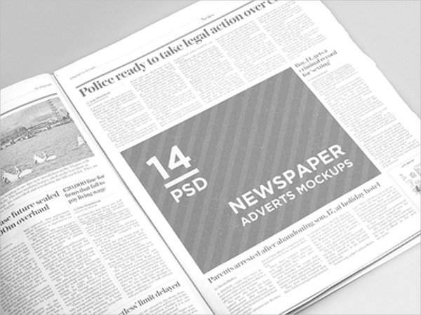 Newspaper Adverts Mockup