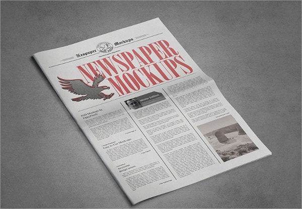 paper advertisement templates - newspaper template 17 psd vector eps png format