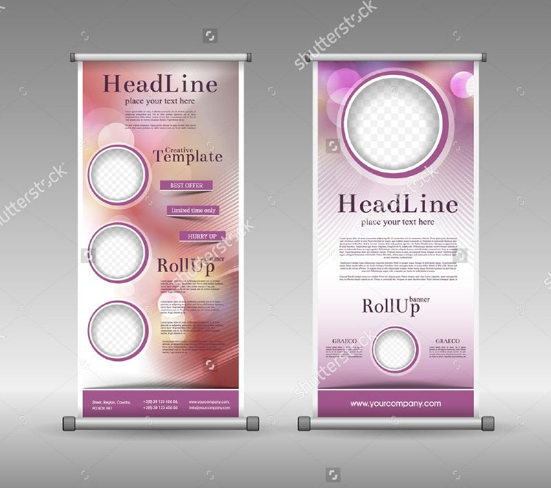 Abstract Roll Up Banner