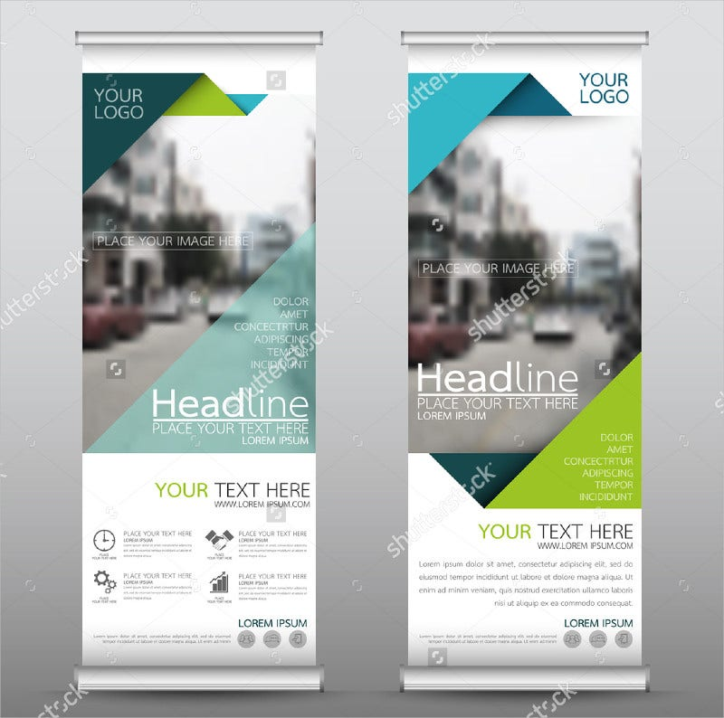 Green Roll Up Business Banner